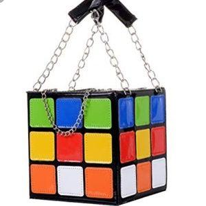 Handbags - NWOT Novelty Rubik's Cube Purse
